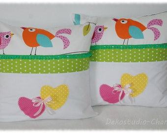Pillowcase pillow cover with birds 50x50cm