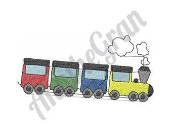 Toy Train - Machine Embroidery Design