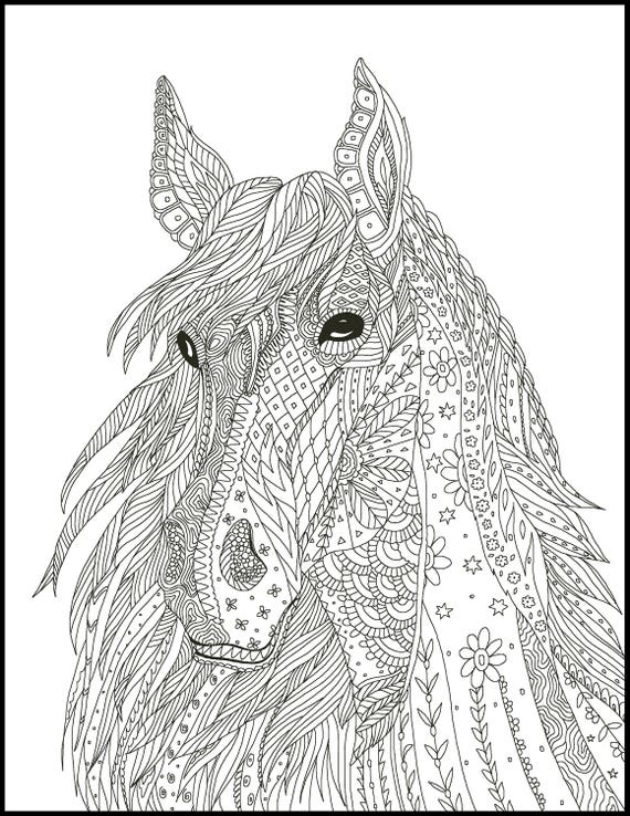 coloring pages for adults horseshoe - photo#15