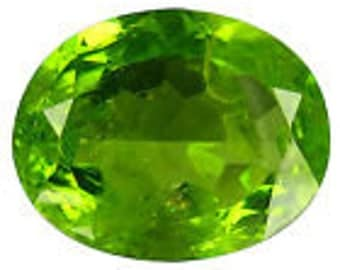7.05 ct Peridot gem came from pakistan, oval cut
