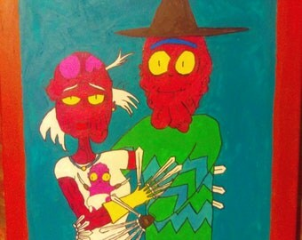 """Painting Rick and Morty - Scary Terry - One of a kind - 16""""x20"""""""