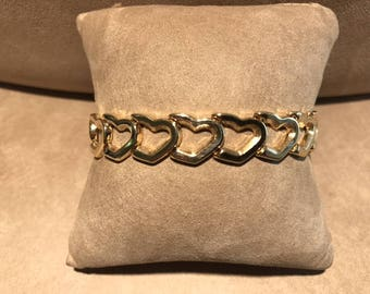 14Kt. Yellow gold Heart Bracelet