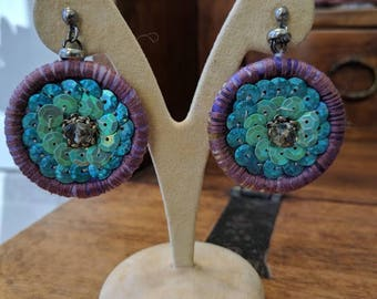 Sequin earrings