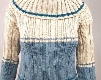 Handmade sweater collar shoulder woman