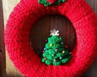Crochet Christmas Tree wreath