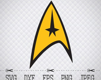 Star Trek Logo SVG DXF EPS Png Digital Cut Vector Files for Silhouette Studio Cricut Design Space Cameo & Cricut Explore Vinyl Decal