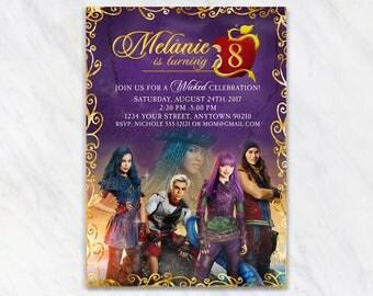 Descendants Invitation for Birthday Party - Printable Digital File