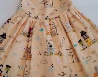 Handmade girls halloween dress age 12-18 months