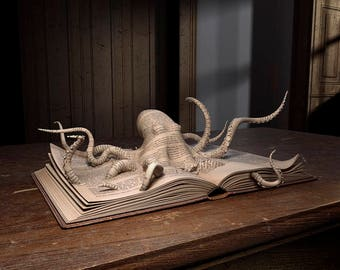 Print Series The Pop Up Book Collection - Octopus - Imaginative Images Print To Size