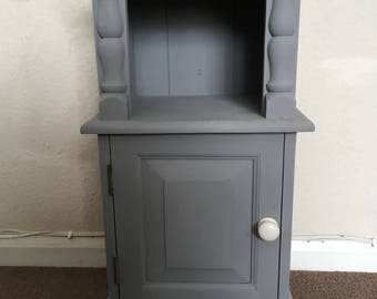 Bedside Cabinet, Hallway, lamp table upcycled grey furniture
