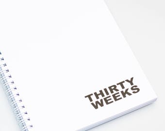 Thirty Weeks A5 Journal