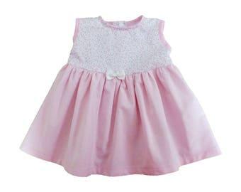 Baby girl dress / Princess pink dress / 6/9 months birthday gift