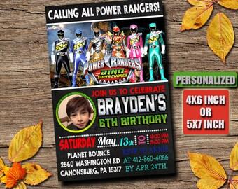 Power Rangers / Power Rangers Invitation / Power Rangers Birthday / Power Rangers Party / Power Rangers Birthday Invitation