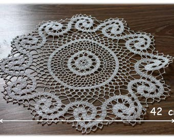 White crochet doily, home decoration, gift for her, wedding decoration