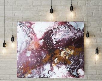 Blumen im Schnee - Abstrakte Malerei - Acryl
