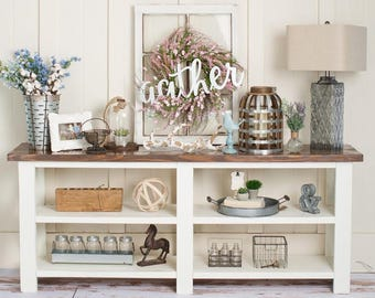 Rustic Console Table; Farmhouse Console Table; Entryway Table; Sofa Table