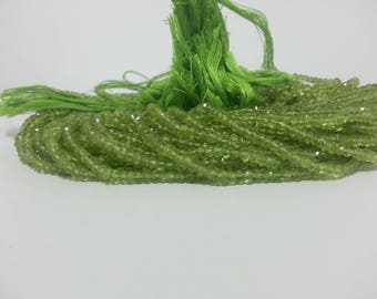 Natural Peridot Faceted Rondelle Beads | Green Beads | Peridot Beads | Peridot Rondelle | Green Rondelle Beads | Green Faceted Beads Strand