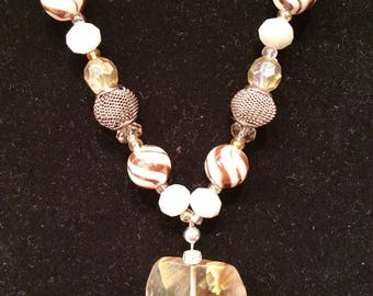 One of a kind Quartz & Stone Necklace made with love