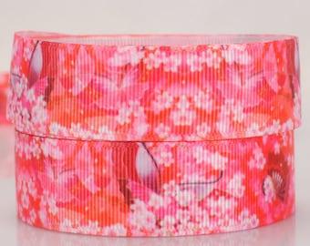 "Japanese fabric ribbon, Per Metre, Grosgrain ribbon flower ribbon 22mm 7/8"""