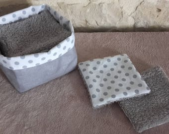 Batch wipes washable x 10 with matching basket