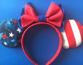 4th of July Inspired Mickey Ears