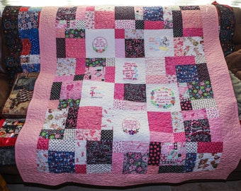 Handmade Breast Cancer quilt