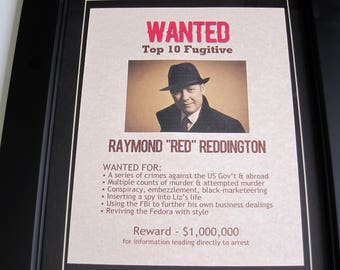 Raymond Red Reddington - The Blacklist - Wanted Poster
