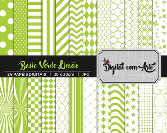 Lemon Green Digital Paper