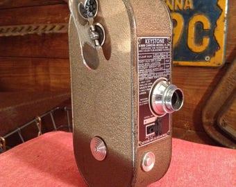 Vintage Camera, KEYSTONE 8MM CAMERA, Old Movie Camera, Keystone Model K-36, 1940s, Retro Cameras, 8mm Film, 3 Film Speed, Keystone Mfg Co