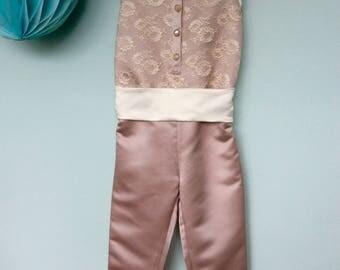 Festive jumpsuit, marriage, wedding, wedding, birthday, first communion, size 116, girl, size 6, bridesmaid
