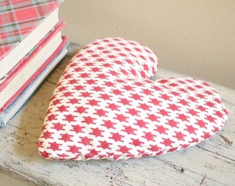 Red Herringbone Lavender Heart