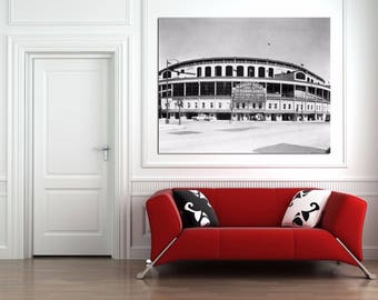WRIGLEY FIELD Chicago Cubs 1950s Canvas Print Large 36 x 24 North Side