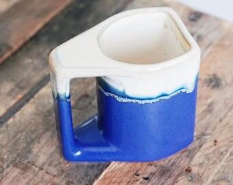 Hand Made Blue Pottery Coffee or Tea Mug Signed!!
