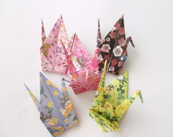 10 large 6'' My Neighbor Totoro Origami paper crane,Make a wish,Washi Chiyogami,Cute Origami crane,wedding,party,Decoration,Make card