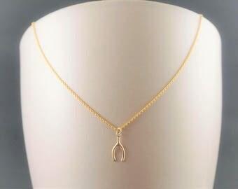 Sophia's wishbone necklace