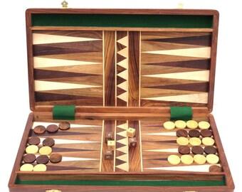 """Backgammon set,Solid wooden board game set 14"""""""