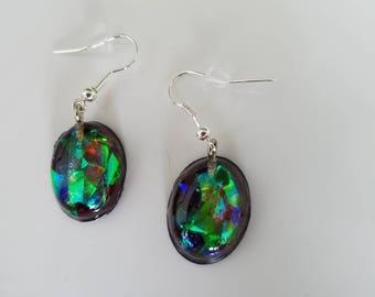 Faux Fire Opal earrings