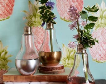 Metallic Bulb Vase