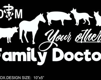Veterinary Mixed Animal Vinyl Decal