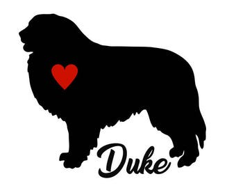 Great Pyrenees Decal, Personalize With Your Dog's Name, Great Pyrenees Sticker, Great Pyrenees, Great Pyrenees Dog Decal, Mountain Dog Decal