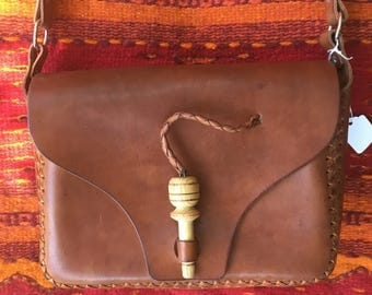 100% Leather hand made hand bag