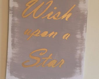 Wish upon a star canvas.
