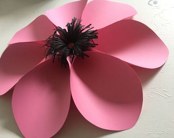 Pink giant paper flower for wall deco, backdrop, party, photobooth, baby shower...