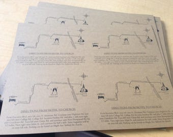 Custom Designed Wedding Invitation Maps