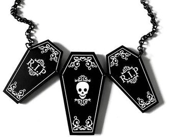Coffin Trio Necklace