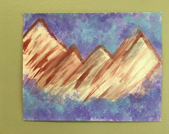 mountains and mist painting