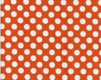Orange Tangerine Ta Dots Fabric - Michael Miller Fabric