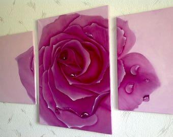 """Original oil painting """"Rose"""", canvas"""