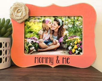 Mommy and Me Picture Frame Gift // Personalized Gift // Mother's Day Gift // Gift from Daughter // Gift from Son