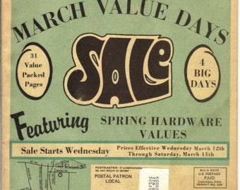 Vintage March 1969 Sears Sale Value Packed Advertising Pamphlet
